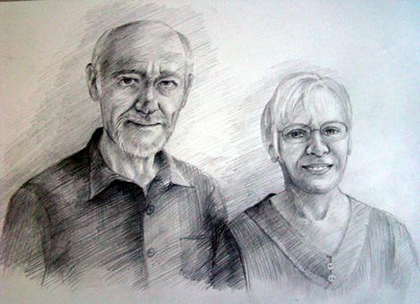 Getekende portretten