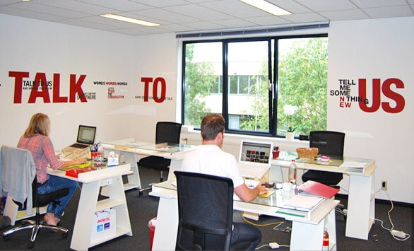 Trendy decoratie van bedrijf of kantoor