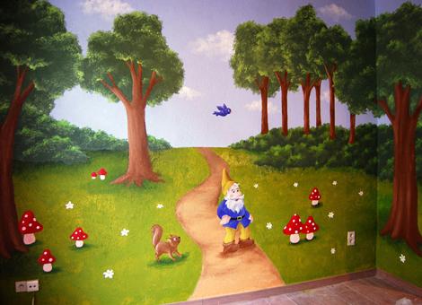 Muurschilderingen scholen en crèches