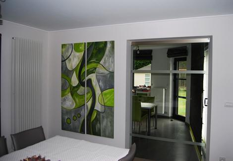 Abstracte schilderijen op maat van uw interieur
