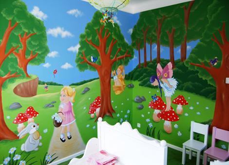 Muurschilderingen kinderkamers