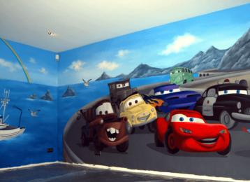 muurschildering-cars-turbo