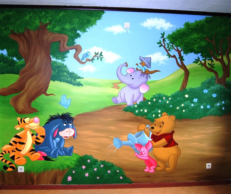 muurschildering-winnie-de-pooh-kinderkamer