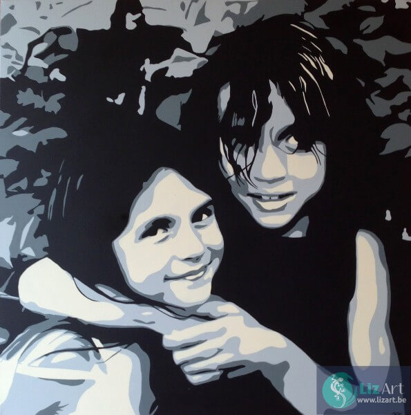 Dubbelportret dochters
