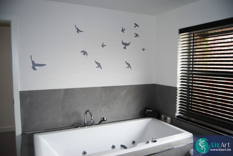 Decoratie Voor Badkamer : Decoratie vogels badkamer lizart