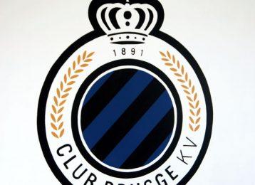Geschilderd logo van voetbalploeg Club Brugge