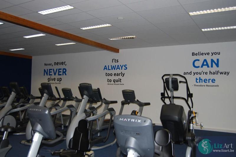 Citaten Tijd Gym : Decoratie bedrijven en wandelgangen lizart