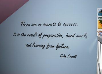 Geschilderd citaat van Colin Powell