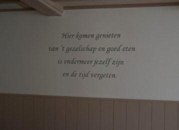 Geschilderde tekst voor restaurant Zellaer te Bonheiden