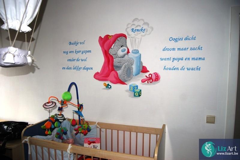 Populaire Originele Kinderkamers : Je babykamer inrichten begin met een originele muurschildering
