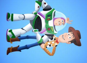 Muurschildering Buzz en Woody