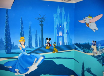 Muurschildering Disneyland
