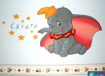 Muurschildering Dumbo