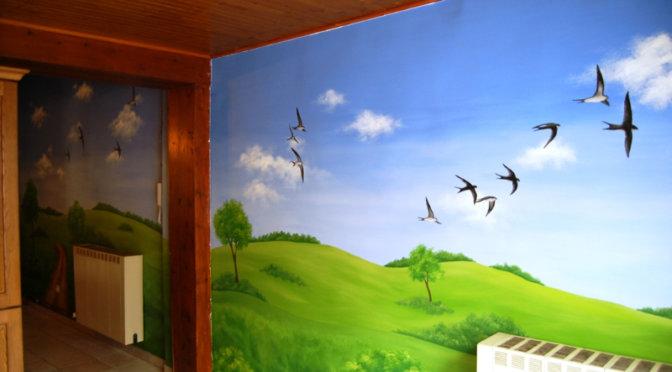 muurschildering-landschap-zwaluw