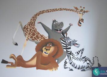 Muurschildering Madagascar