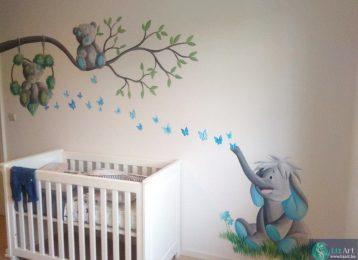 Me2You figuurtjes maken deze babykamer heel gezellig
