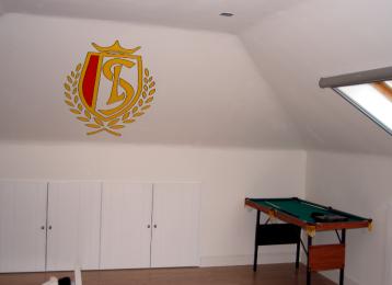 Muurschildering logo Standard Luik