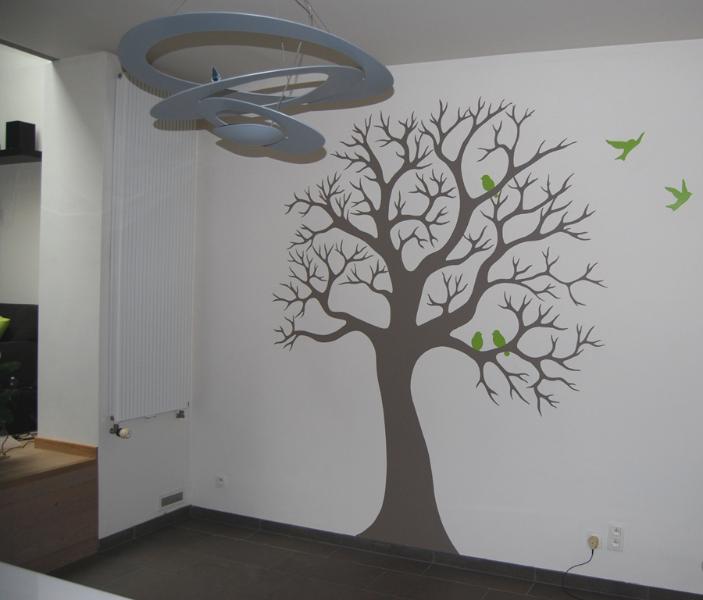 Decoratie van flora & fauna: muurtekening boom - Lizart
