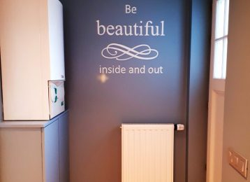 "Muurtekst ""Be beautiful inside & out"""