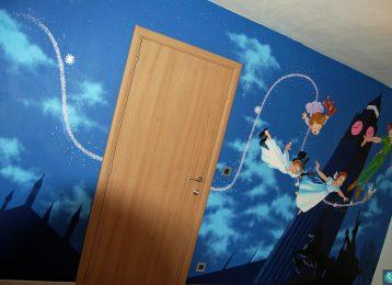 Wandschildering Peter Pan