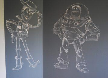 Muurschildering Toy Story