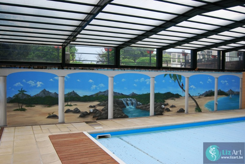 Trompe l'oeil zwembad hotel