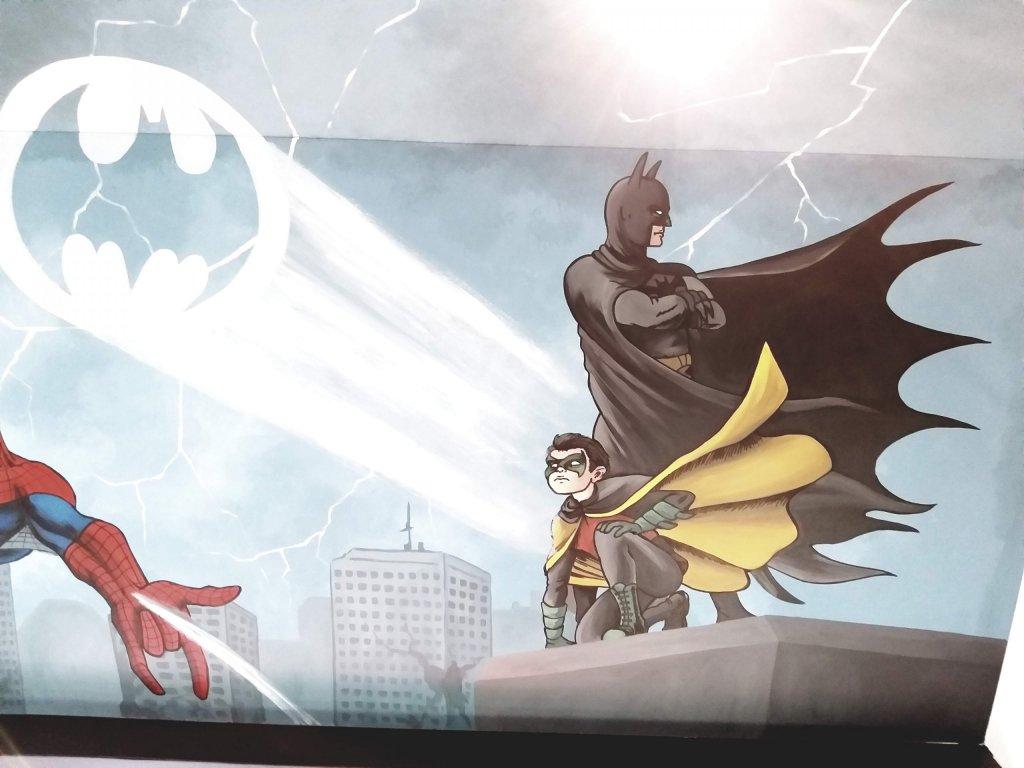 CD Comics Batman muurschildering