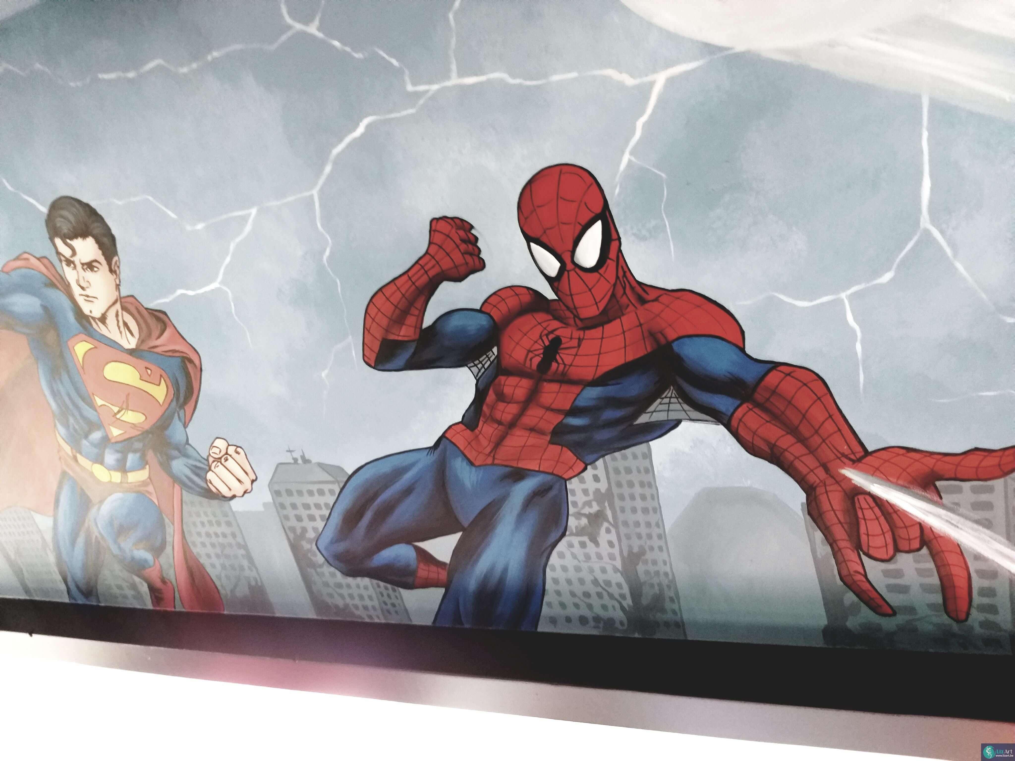Marvel Spider-Man muurschildering