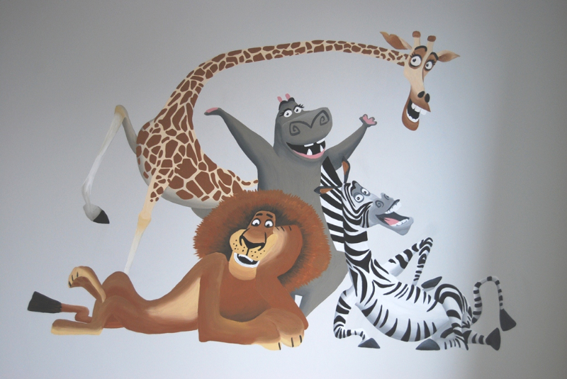Disney muurschilderingen lizart wandschilderingen - Ontwerp muurschildering ...